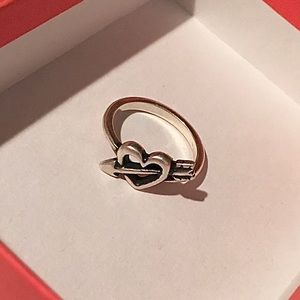 James Avery Heart Arrow Ring Size 5
